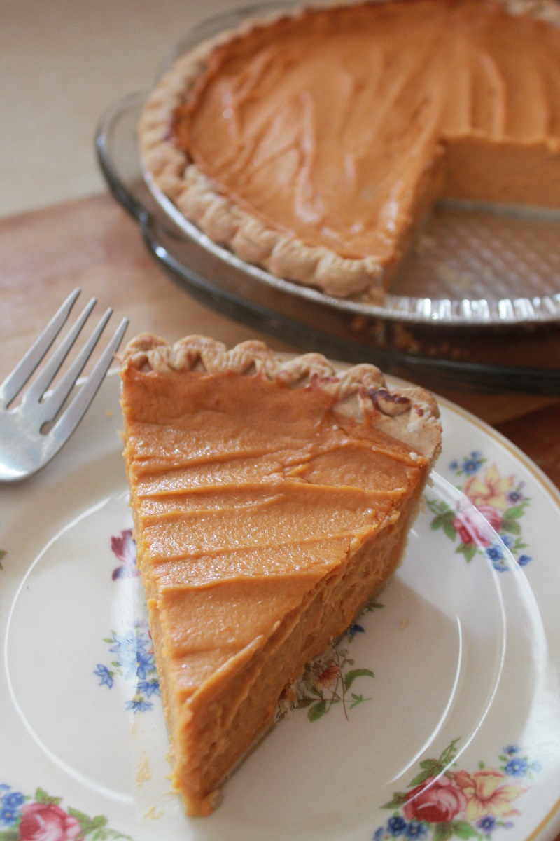 Real Sweet Potato Pie | The Lazy Vegan Baker