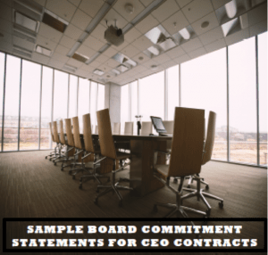 Board Commitment Statements