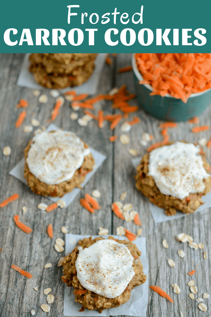 These Frosted Carrot Cookies are an easy way to add some veggies to your breakfast or afternoon snack. They're lightly sweetened and taste great with or without the frosting!