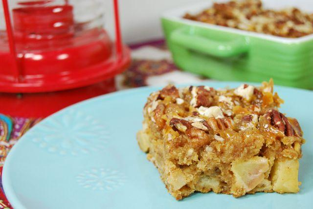 Bursting with fall flavors, these Caramel Apple Bars are a lightened up alternative to a real caramel apple.