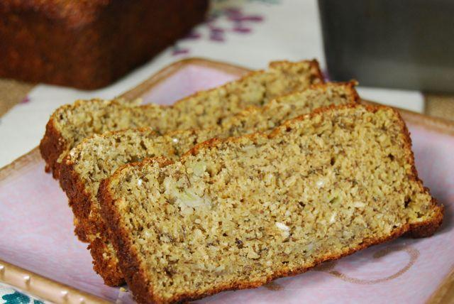 This Gluten-Free Banana Bread is made with a mixture of chickpea and oat flours, plus greek yogurt for a little extra protein!