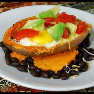 Sweet Potato Egg Boats