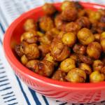 Sweet & Spicy Roasted Chickpeas