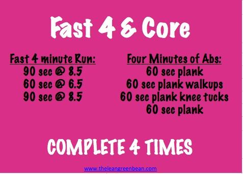 Fast 4 & Core Ab Workout