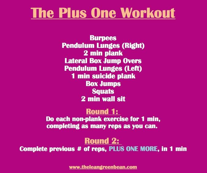 plus 1 workout