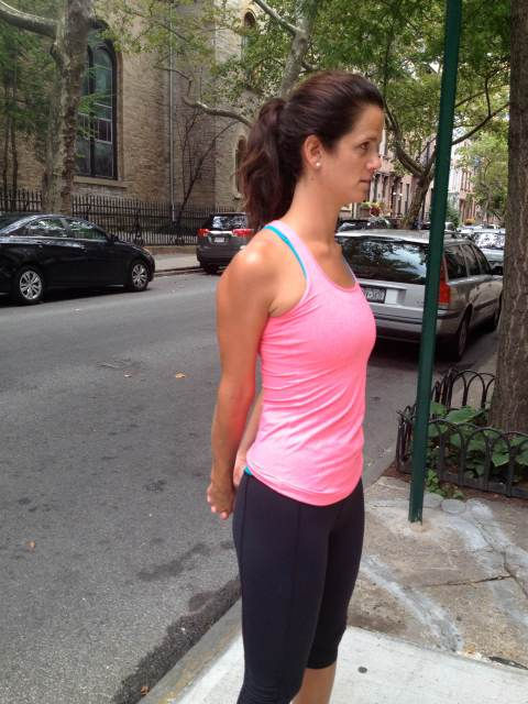 stretching chest