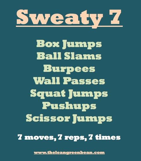 Sweaty 7 Cardio Workout