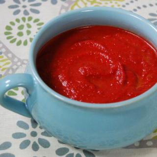 Roasted Beet & Avocado Soup