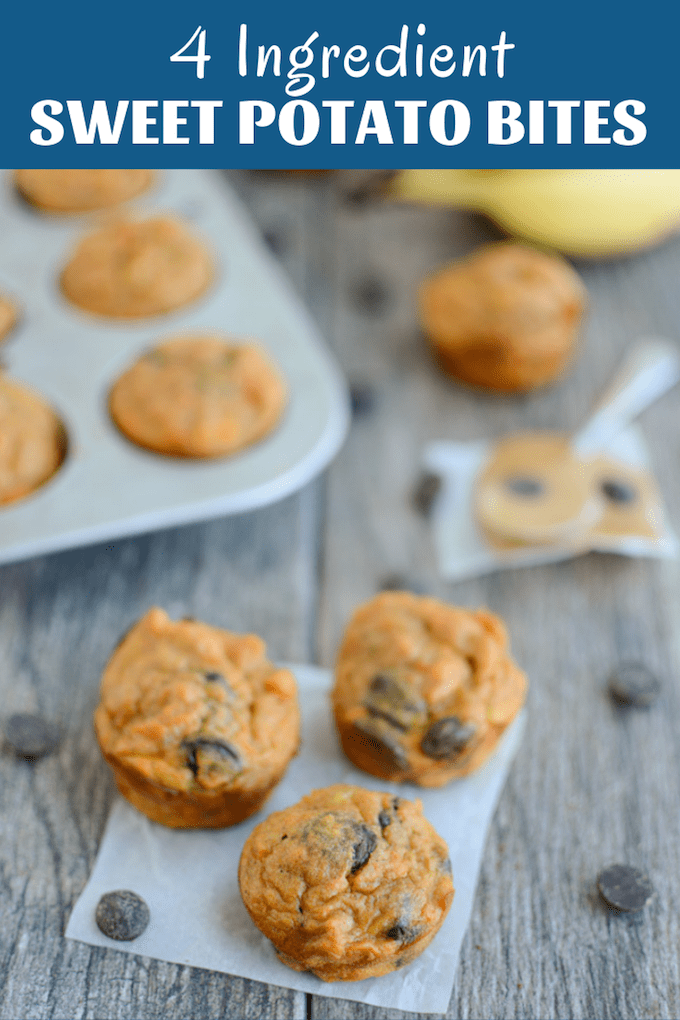 These gluten-free Sweet Potato Banana Bites have just four main ingredients and make a great snack for both kids and adults!