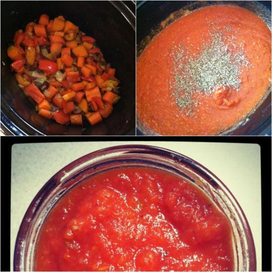 crockpot roasted vegetable sauce