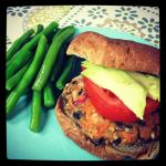 Sweet Potato Quinoa Black Bean Burgers with Cranberries