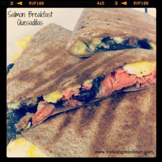 salmon breakfast quesadilla