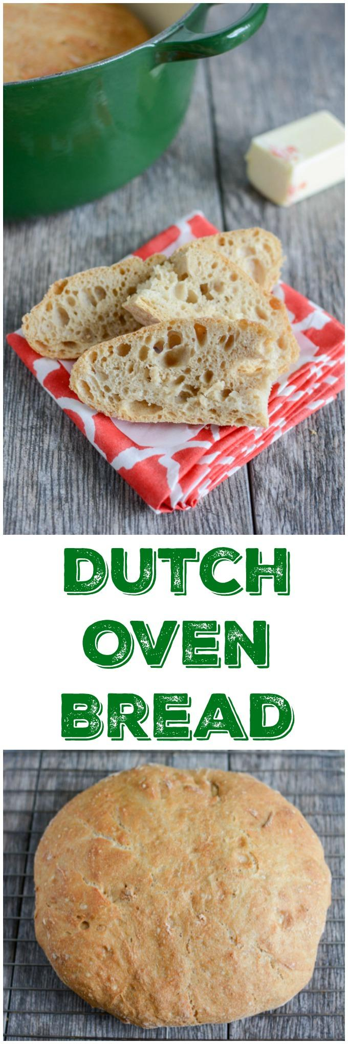 This easy recipe for Dutch Oven Bread requires minimal effort and is basically foolproof. Enjoy homemade bread made with real, healthy ingredients and no processed junk.