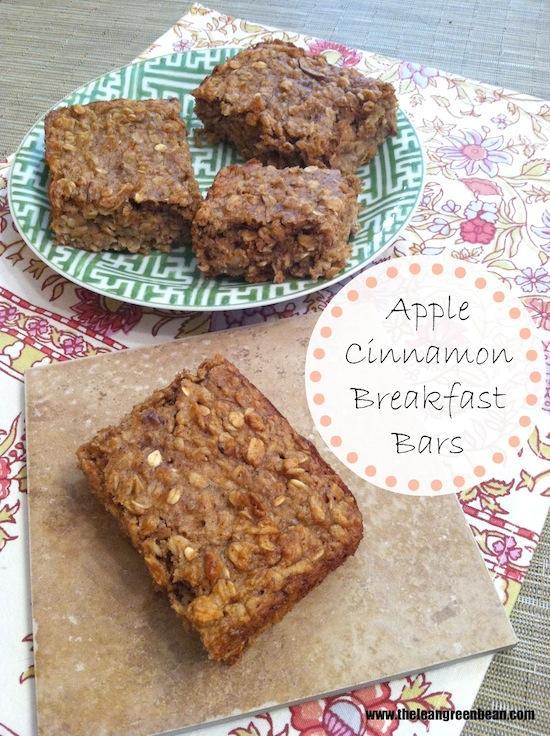 apple cinnamon breakfast bars