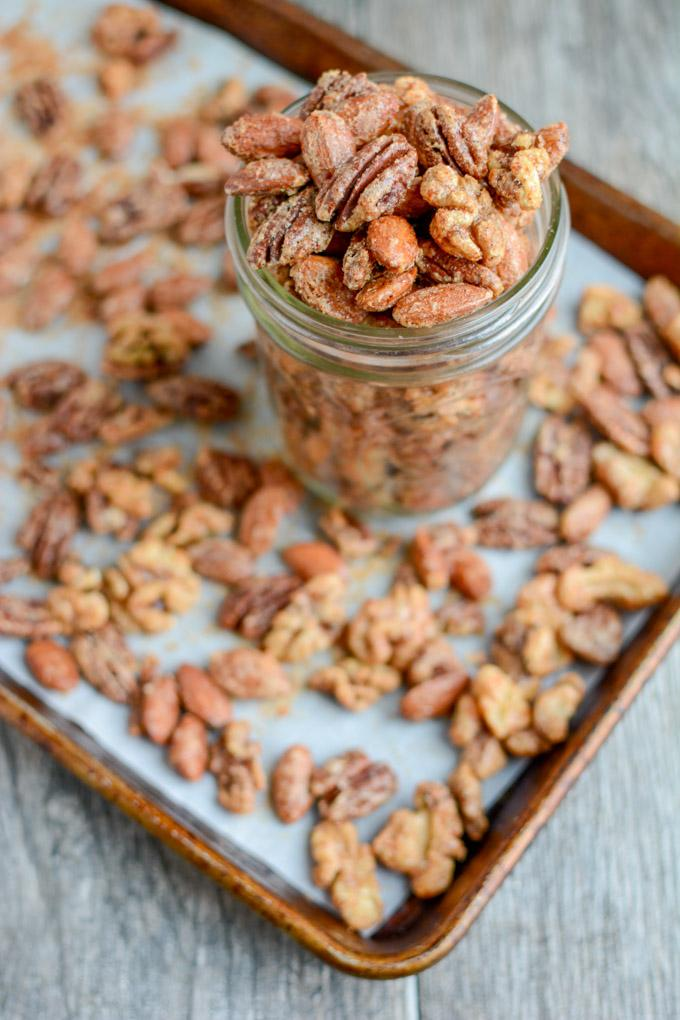 Sweet and Spicy Almonds, Pecans and Walnuts