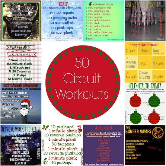 Looking for a new workout to change things up? Check out this post for 50 Circuit Workouts to help you take your fitness to the next level!