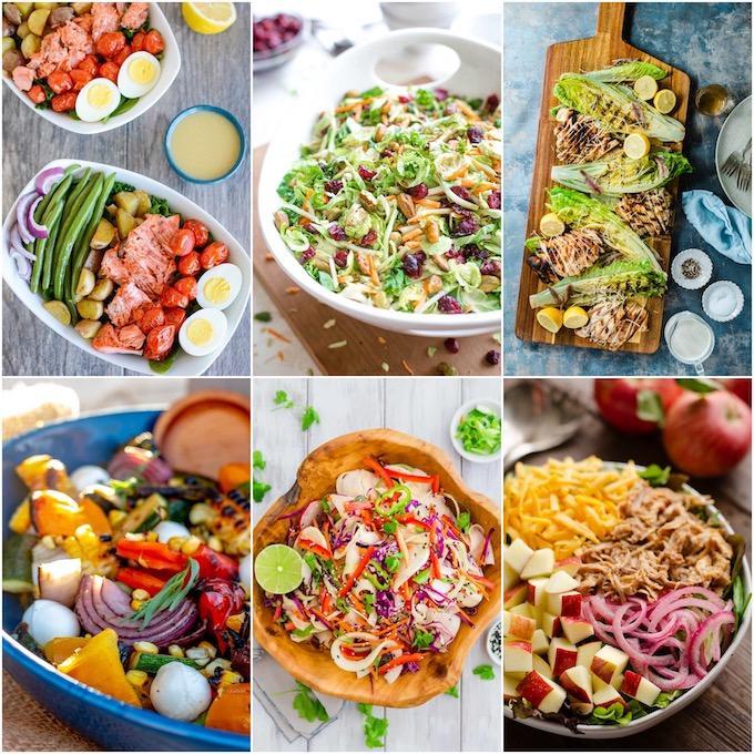 six non-traditional salads