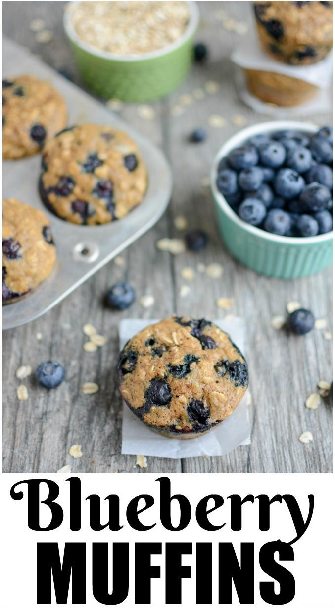 These Blueberry Muffins are lightly sweetened and bursting with flavor. They're kid-friendly and make a great breakfast or snack!