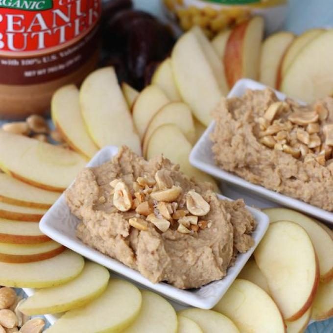 This Peanut Butter Cookie Dough Dip is made with chickpeas and lightly sweetened with dates. The perfect snack when served with a side of apples!