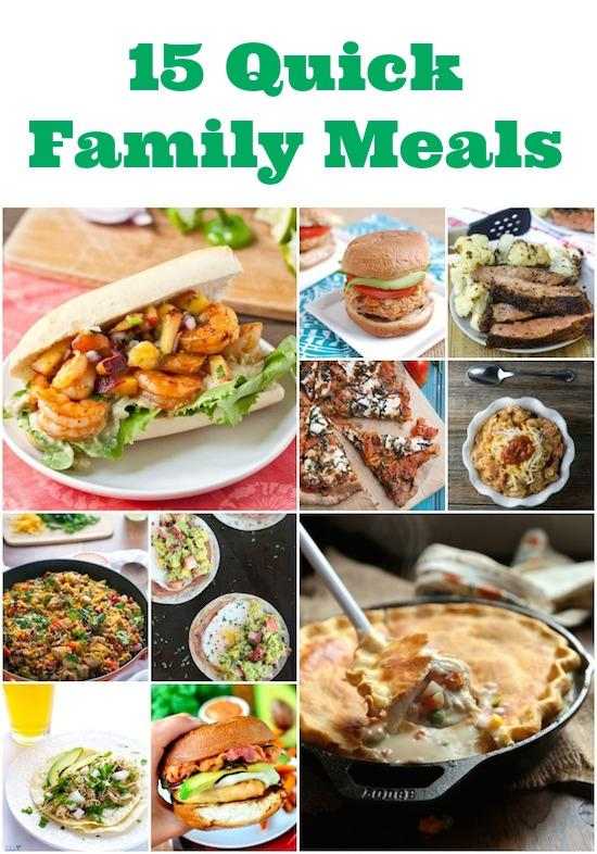 For those nights when you need dinner in a hurry, here are 15 quick family meal ideas.