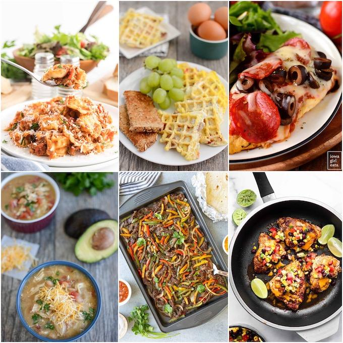 collage of quick family meals