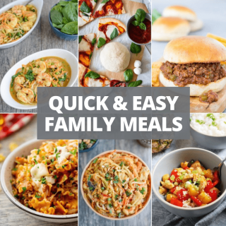 15 quick family meals collage
