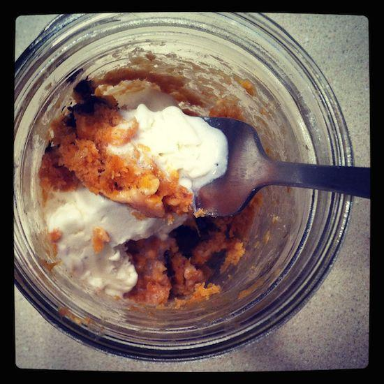 mason jar sweet potato mug cake