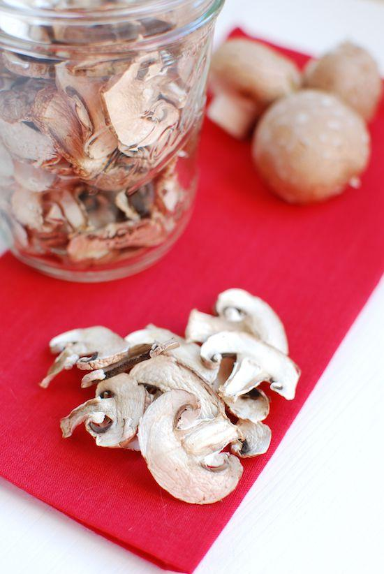 Make your own dehydrated mushrooms in a dehydrator or oven. They're great for adding flavor to stocks and broths.