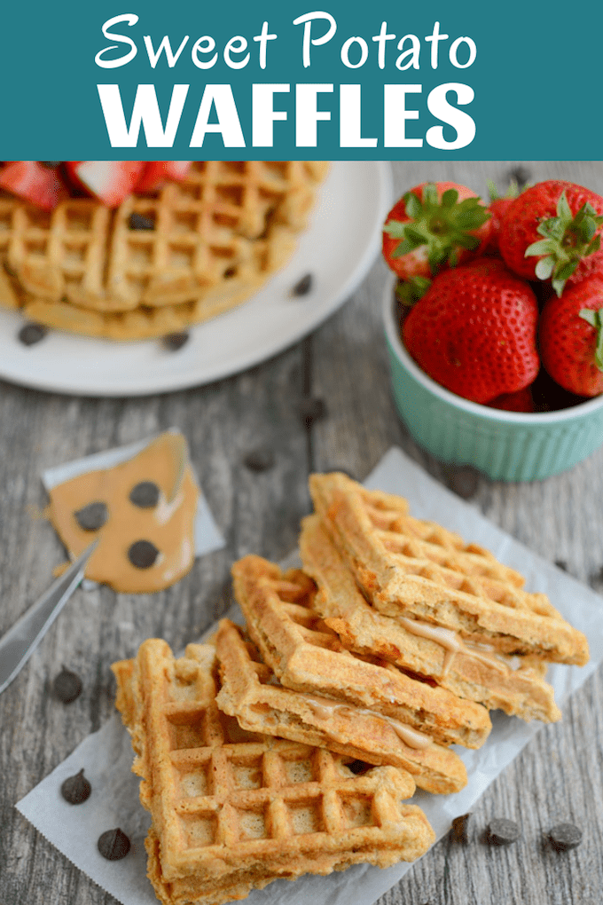 These Sweet Potato Waffles are kid-friendly and perfect for breakfast, pre-workout fuel or an afternoon snack. Add some peanut butter in the middle for a fun waffle sandwich!