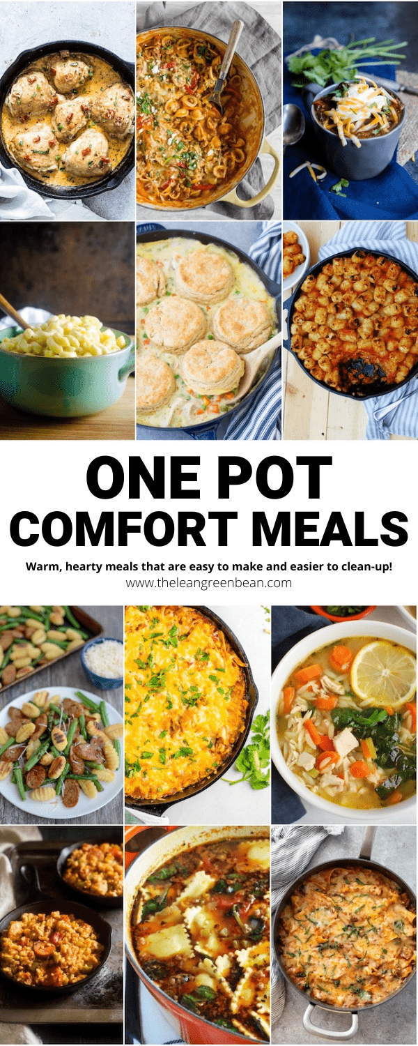Looking for the best one-pot comfort meals? These dinner ideas are warm and satisfying and also quick and easy to make and clean up!