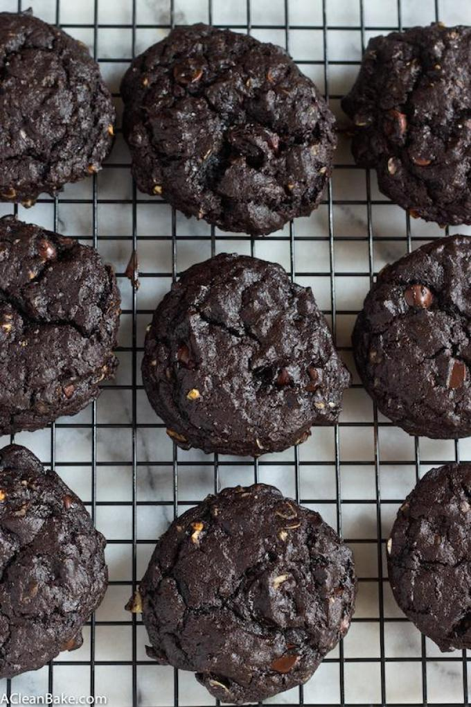 Get your chocolate fix with this Double Chocolate Cherry Oatmeal Cookies. They're gluten-free and can easily be made vegan.