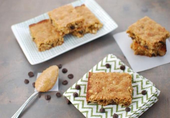 These Gluten Free Peanut Butter Chocolate Chip Bars are an easy dessert for times when you just don't feel like cookies.