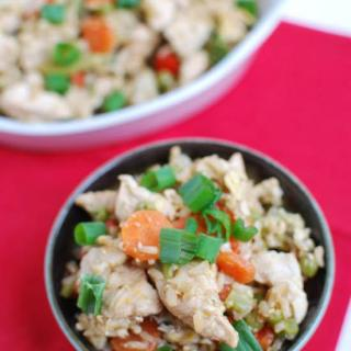 This Healthy Chicken Fried Rice is perfect for niights when you want a quick, easy dinner that's both simple and nutritious!