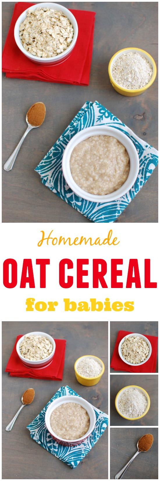 Learn how to make baby oatmeal! You're just 3 ingredients away from homemade baby oatmeal cereal.