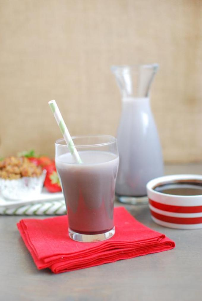 Homemade chocolate milk made with just 4 simple ingredients!