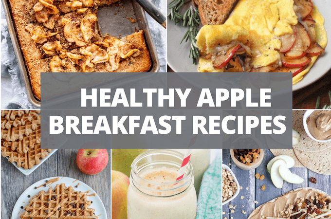 collage of apple breakfast recipes