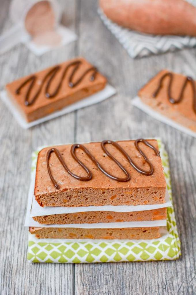 This recipe for Gluten-Free Sweet Potato Protein Bars makes a healthy post-workout or afternoon snack! They can easily be made paleo and are grain-free.