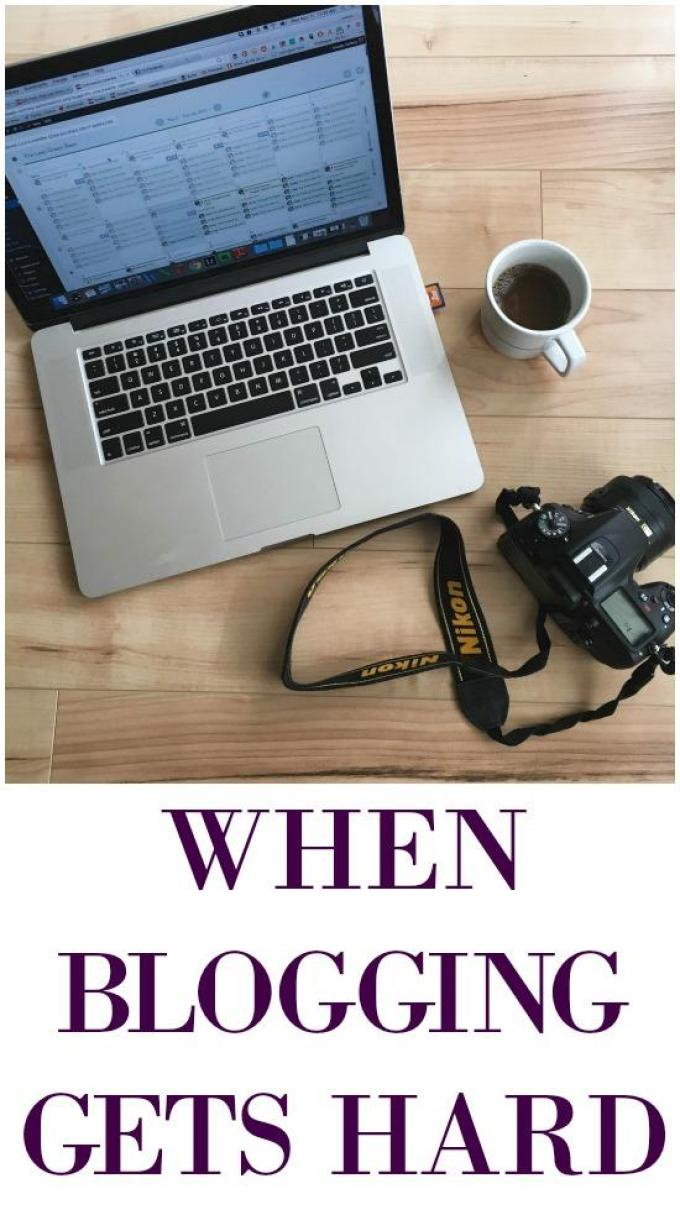 When blogging gets hard and you find yourself in a rut, here's what to do.