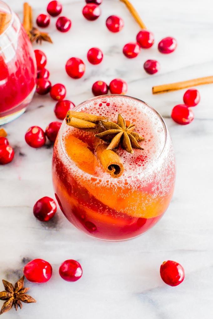 Non-Alcoholic Winter Sangria