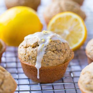 Flourless Lemon Poppyseed Muffins