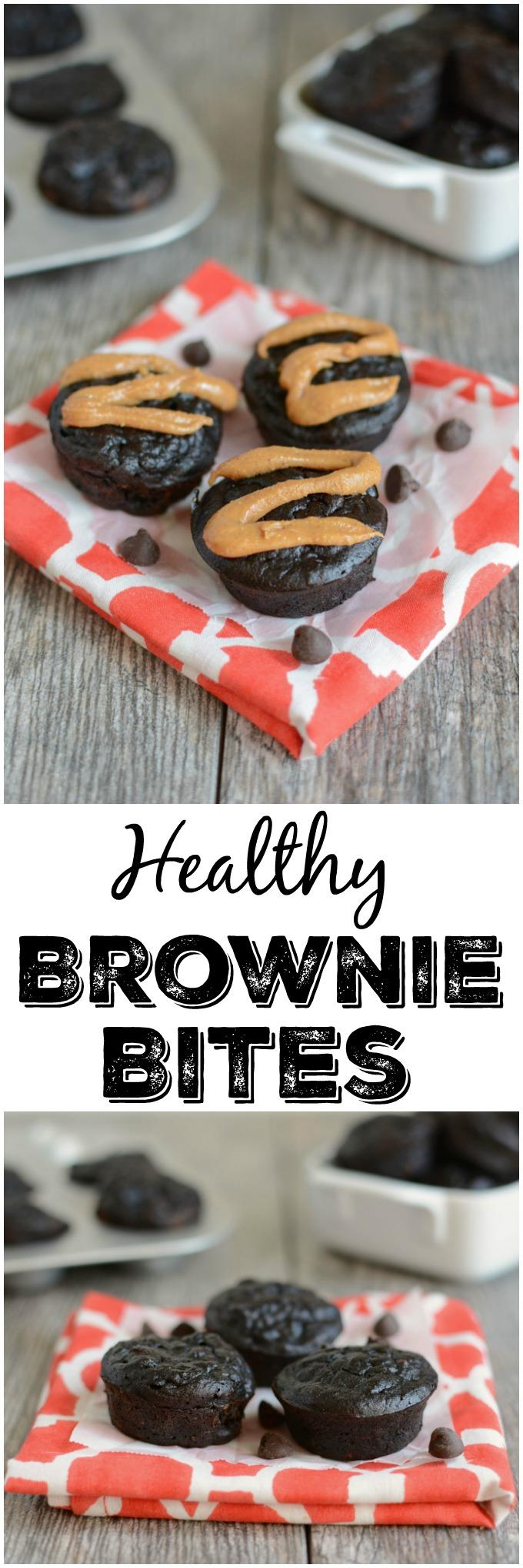 These Healthy Brownie Bites require just seven ingredients, are healthy enough for a snack and also make a great dessert recipe!