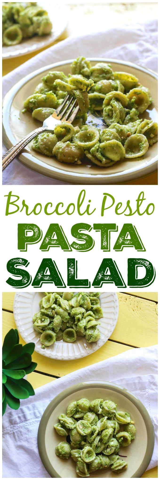 This Broccoli Pesto Pasta Salad makes the perfect summer side dish. An easy way to add some extra vegetables to the dinner table.