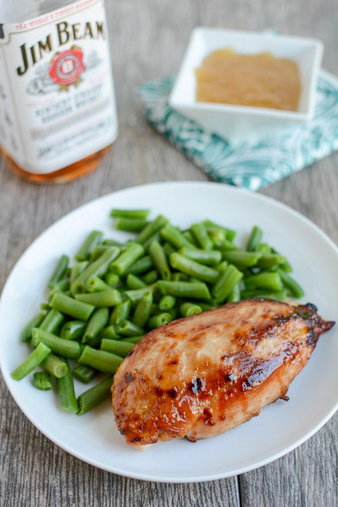 This 5 ingredient Bourbon Chicken Marinade can easily be thickened to double as a glaze for extra flavor while cooking dinner!