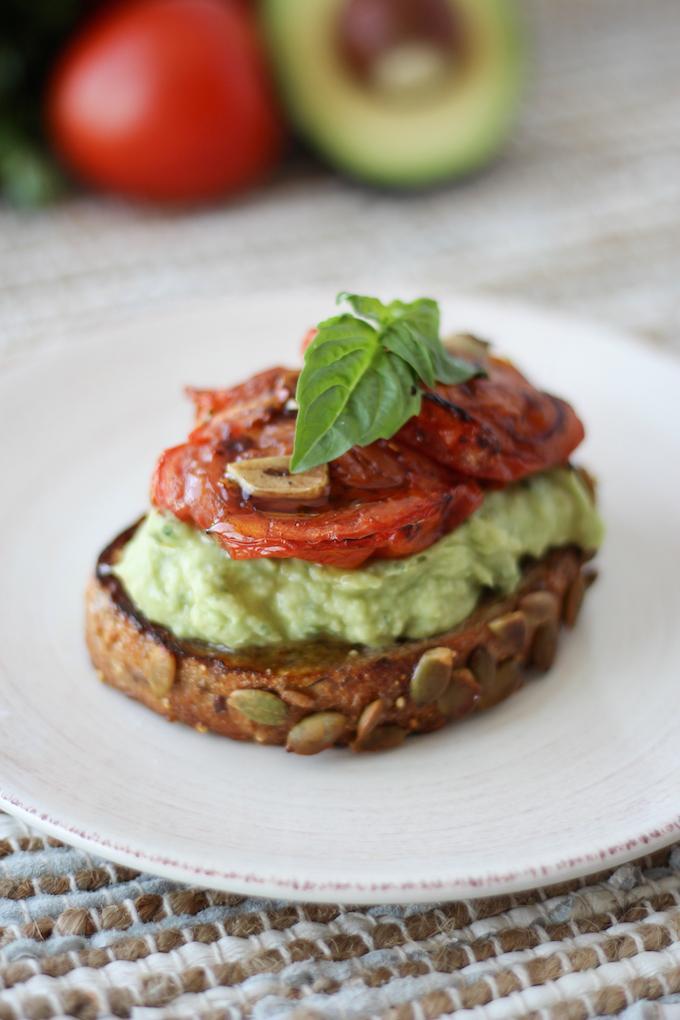High protein avocado toast