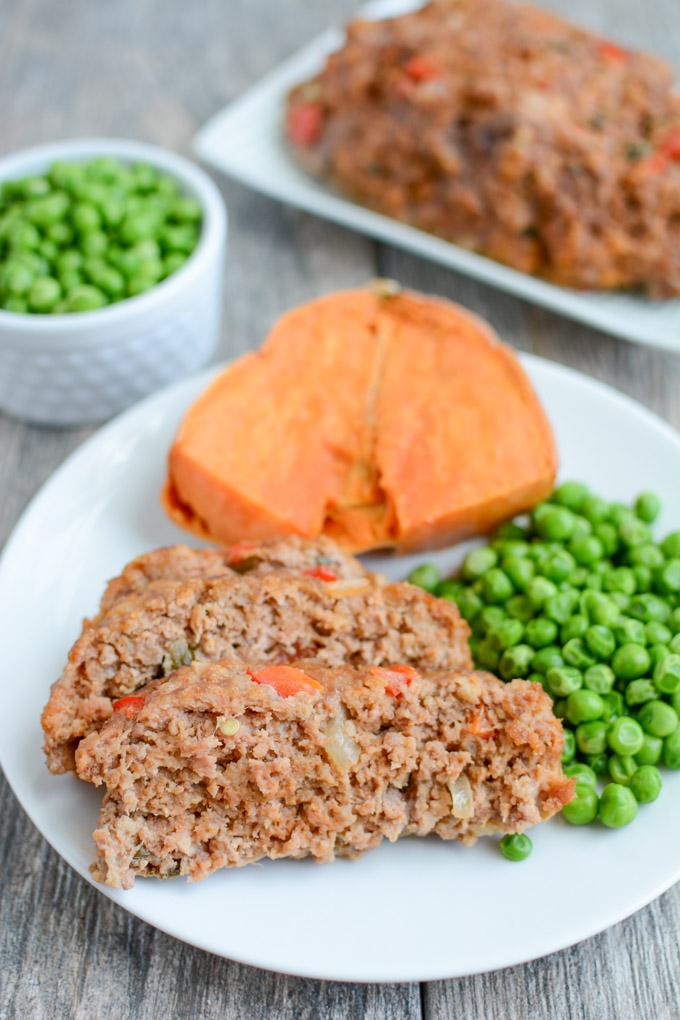 This Cajun Meatloaf recipe is perfect for dinner. It's healthy, full of flavor and easy to make. Plus it freezes well so feel free to double the recipe!