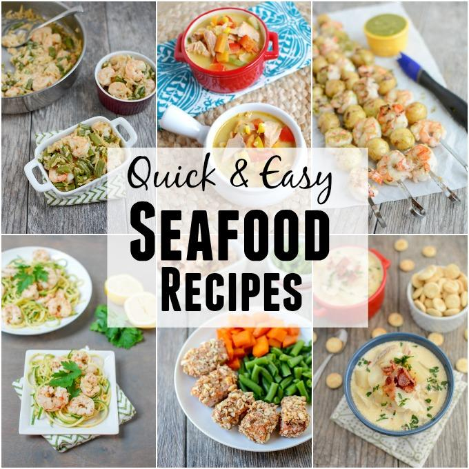 Looking for some quick and easy seafood recipes? Learn about the importance of seafood in a healthy diet, plus quick easy recipes to help you eat more fish!