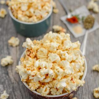 This recipe for Spicy Ranch Popcorn is the perfect snack to keep on hand when a craving strikes! Stash some at work or in your purse to get you through a long afternoon!
