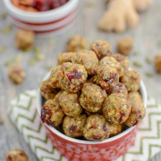 Cranberry Ginger Energy Bites