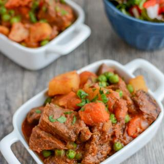 This healthy Instant Pot Beef Stew recipe is ready in under an hour and tastes like it has been simmering all day. The perfect dinner on a cold winter night.