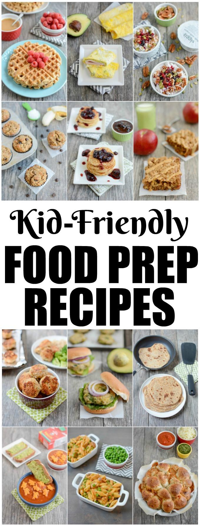 These Kid-Friendly Food Prep Recipes are great additions to your weekly meal prep sessions. Having healthy options on hand for breakfast, lunch, dinner and snack time can help you eat healthy during busy weeks!